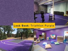 Colored virgin rubber flooring means you will be giving your gym or playroom a unique look that will stand the test of time. Call today for samples of Triathlon 800 series. #purple #purpleaesthetic #purpleaesthetics #gym #gymlifestyle #gymgirls #backyard #backyarddesign #backyardgoals #daycare #daycarelife #daycareowner #daycareprovider #daycarecenter #daycarefun