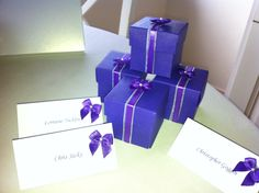 Grand Design Weddngs favors with matching place settings