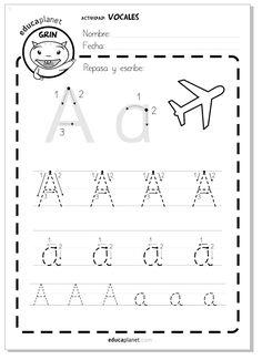 Recursos de lectoescritura de los creadorede de Pipo digitales y en papel para aprender las vocales: A E I O U.
