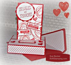 RnRStamping.com: Snuggles and Smooches, free standing pop up card, Valentine, Stampin' Up!