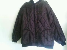 US $59.99 or best offer - just listed 4XL XXXX quilted jet black EUC water resistant jacket - shipped free priority form my eBay store!