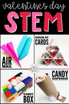 Four LOW PREP STEM Challenges for Valentine's Day | February STEM Activities for Elementary Students
