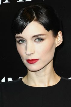 Rooney Mara played around with her blunt, straight-across bangs (and looked fabulous, of course!)