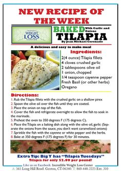 ideal protein baked tilapia