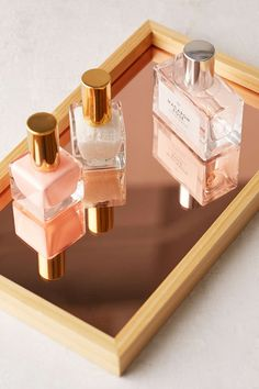 Blush Glass Catch-All Tray Urban Outfitters Rose gold