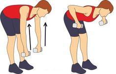 inclinado levantando pesas