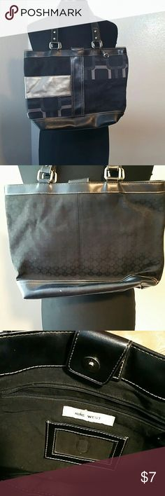Black Nine West Purse/Tote Perfect for the office and the weekend.  Holds a ton! Nine West Bags Totes