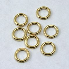 6mm Gold Soldered Jump Ring