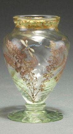 Vase 'Fougères et libellule', um 1900 - Gallé, Emile, Nancy