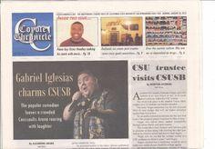 GABRIEL IGLESIAS Newspaper 2013 at Cal State San Bernardino FREE SHIPPING