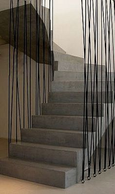 Striking architectural concrete staircase design.