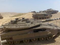 Israili battle tanks