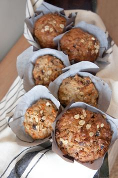 Healthy Carrot Cake Muffins. Full of flavour and good for you!