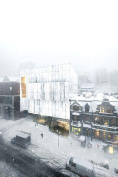 Saucier Perrotte proposal for Montreal MFA's  fifth pavilion