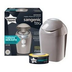 Individually twists & wraps nappy to lock in odour The innovative Sangenic Tec nappy disposal system from Tommee Tippee offers anti-bacterial protection from germs and odours, individu Toilet Training, Changing Mat, Baby Development, Baby Care, Can Opener, Cleaning Wipes, Nursery, Essentials