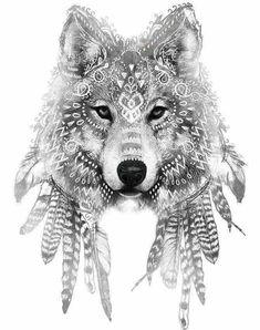 Dalia Diaz #WolfTattooIdeas