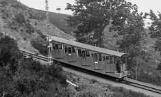 Barcelona - Tibidabo - The first Funicular to the Amusement Park in the 1920s.