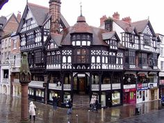 1 Bridge Street, Chester, is located in the centre of the city of Chester, Cheshire, England. Its Tudor Revival architecture is that of the black-and-white revival, it incorporates part of the Chester Rows. The building was designed by Thomas Lockwood, & built in 1888 for the 1st Duke of Westminster, although by 1889 it was owned by Chester City Council. The building is now occupied by shops.
