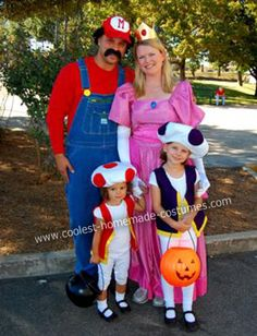 Homemade Super Mario Group Halloween Costume... This website is the Pinterest of costumes