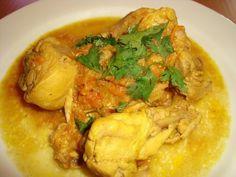 Coentros Bolo Cubano, Chicken Tikka, Thai Red Curry, Meat, Ethnic Recipes, Food, Onions, Salads, Brisket