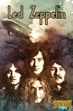 "Read ""Rock and Roll Comics: Led Zeppelin"" by Spike Steffenhagen available from Rakuten Kobo. The Led Zeppelin saga is one of the wildest in rock history, and this graphic novel pulls no punches in dramatizing the . Rock And Roll, Rock Logos, Led Zeppelin Art, Led Zeppelin Wallpaper, Led Zeppelin Poster, Led Zeppelin Albums, Hard Rock, Rock Band Posters, Digital Foto"