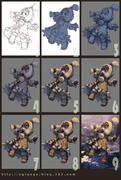Step by step ✤    CHARACTER DESIGN REFERENCES   キャラクターデザイン   çizgi film • Find more at https://www.facebook.com/CharacterDesignReferences & http://www.pinterest.com/characterdesigh if you're looking for: #color #theory #contrast #animation #how #to #draw #paint #drawing #tutorial #lesson #balance #sketch #colors #painting #process #line #art #comics #tips #cartoon    ✤