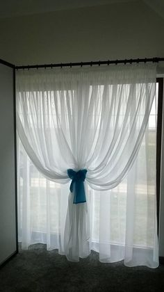 Overlapping Sheer Curtains DIY Beaded Tiebacks Champagne Ivory Cream