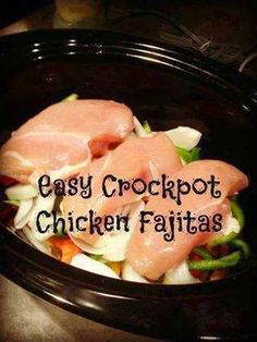 Weightloss, Recipes and DIY with Kari: EASY CROCKPOT CHICKEN FAJITAS(recipe from Eat Home Cooks)