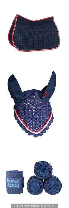 Horze Eclipse River Set - Horze River All Purpose Saddle Pad - Horze River Ear Net Bonnet - Horze Nest Bandages