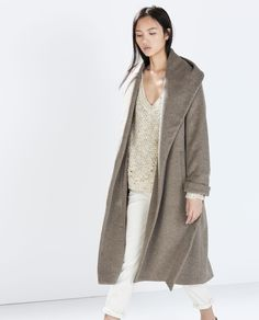 WOOL COAT WITH BELT-Coats-Outerwear-WOMAN | ZARA United States