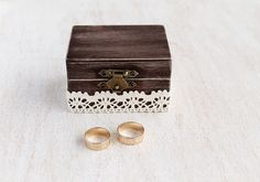 Custom Rustic Box, Ring Bearer Box, Wedding Ring Box, Keepsake Box, Wood Ring…