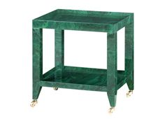 ISD-100-407 Faux Malachite Bungalow 5 table #colorfurniture #green