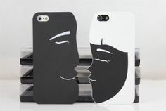 Cartoon Couple Frosted Hard Case Cover. This is soooo cool! If I ever get a boyfriend I'm so doing this!