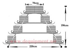 4 Tiers of 160 birds layer cage-Hebei Dingtuo Machinery And Equipment Co., Ltd
