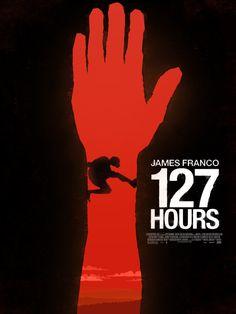 127 Hours (2010) ~ Minimal Movie Poster by Simon Fischer #amusementphile
