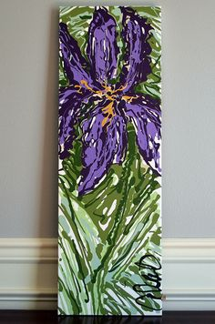 Louisiana Purple Iris Acrylic Painting on by ShopCarolinaMoon, $250.00