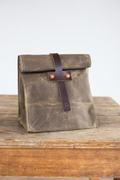 Hey, I found this really awesome Etsy listing at https://www.etsy.com/listing/63013363/lunch-tote-in-dark-khaki-waxed-canvas