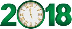 2018 Green Clock Transparent Clip Art Image