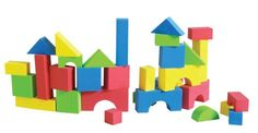 Soft Colorful foam building block are perfect for the young creative builder. Ideal for block play on the floor or in the bathtub as the blocks float and stick easily to bathtub tile walls when wet. Set of 30 blocks Blocks For Toddlers, Kids Blocks, Foam Building Blocks, Building Toys, Block Play, Educational Toys For Toddlers, Stacking Blocks, Preschool Games, Activities
