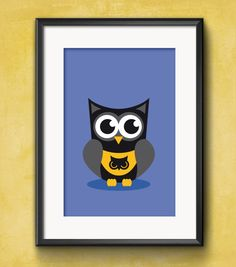 Owl Dark Superhero Poster // instantly printable by HayahDesigns
