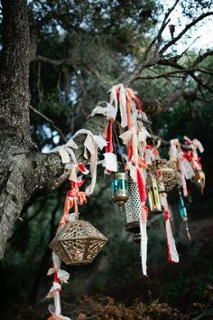 ribbon tied tree