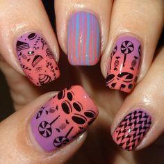 MoYou Nails Plate 305 #wendystanbury #funmani  #nailart - bellashoot.com