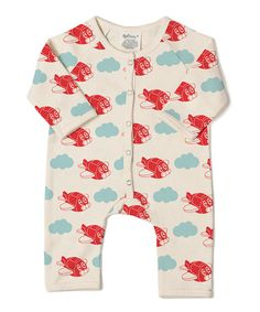 fa498ac9a133 This White  amp  Red Plane Organic Cotton Playsuit - Infant is perfect!   zulilyfinds