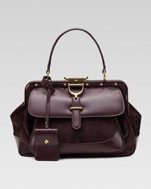 Gucci Calf Hair Lady Stirrup Top-Handle Bag, Medium $3400