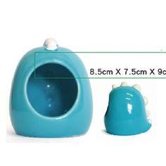 UDTEE Blue Color Warm/Cosy Dinosaur Shape Design Ceramic Critter Bath/House/Cage for Pet Hamster/Mouse UDTEE http://www.amazon.com/dp/B00O7LZAX0/ref=cm_sw_r_pi_dp_eTq-ub1QZRVRP