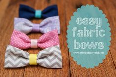 Simple Sewing Crafts You Can Make With Fabric Scraps - Easy Fabric Bows - Creative DIY Sewing Projects and Things to Do With Leftover Fabric Scrap Crafts Scrap Fabric Projects, Sewing Projects For Beginners, Liberty Of London, Fabric Bows, Fabric Scraps, Navidad Diy, Diy Couture, Leftover Fabric, Easy Crafts For Kids