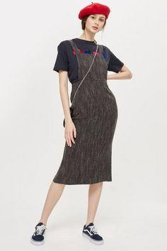 Boucle Pinafore Dress - Dresses - Clothing - Topshop Europe