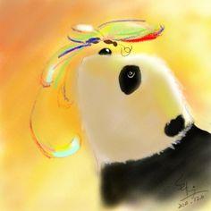 panda and butterfly - by SukiWang
