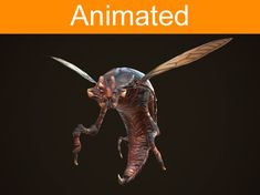 creature insect 3d model low-poly animated fbx tga 1