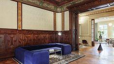 Immobilienentwickler Euroboden eröffnet Büro in Berlin | Produktive Wohnlichkeit im Palais Eger Terrazzo, Foyer, Divider, Couch, Room, Furniture, Home Decor, Moldings, Diner Menu